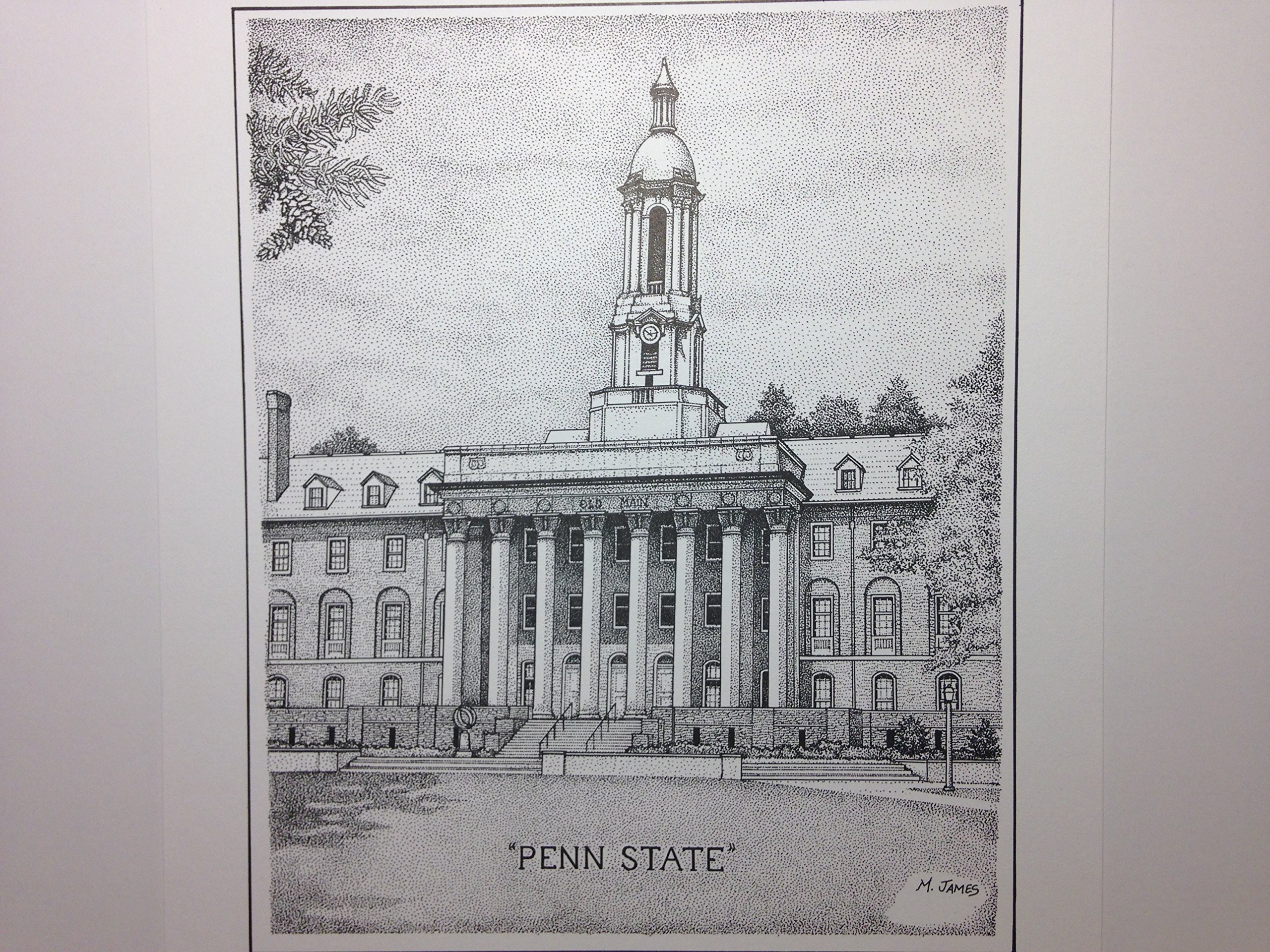 Penn State - ''Old Main'' 8''x10'' pen and ink print