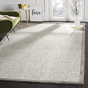 Amazon Com Safavieh Abstract Collection Abt220a Handmade Premium Wool Area Rug 6 X 9 Sage Ivory Furniture Decor