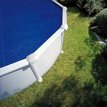 Gre CPROV610 - Cobertor de Verano para Piscina Ovalada de 610 x 375 cm, Color Azul