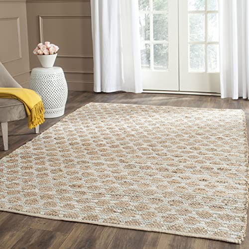 Safavieh Cape Cod Collection CAP820D Handmade Grey and Natural Jute Area Rug 10 x 14