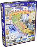 White Mountain Puzzles California - 1000 Piece Jigsaw Puzzle