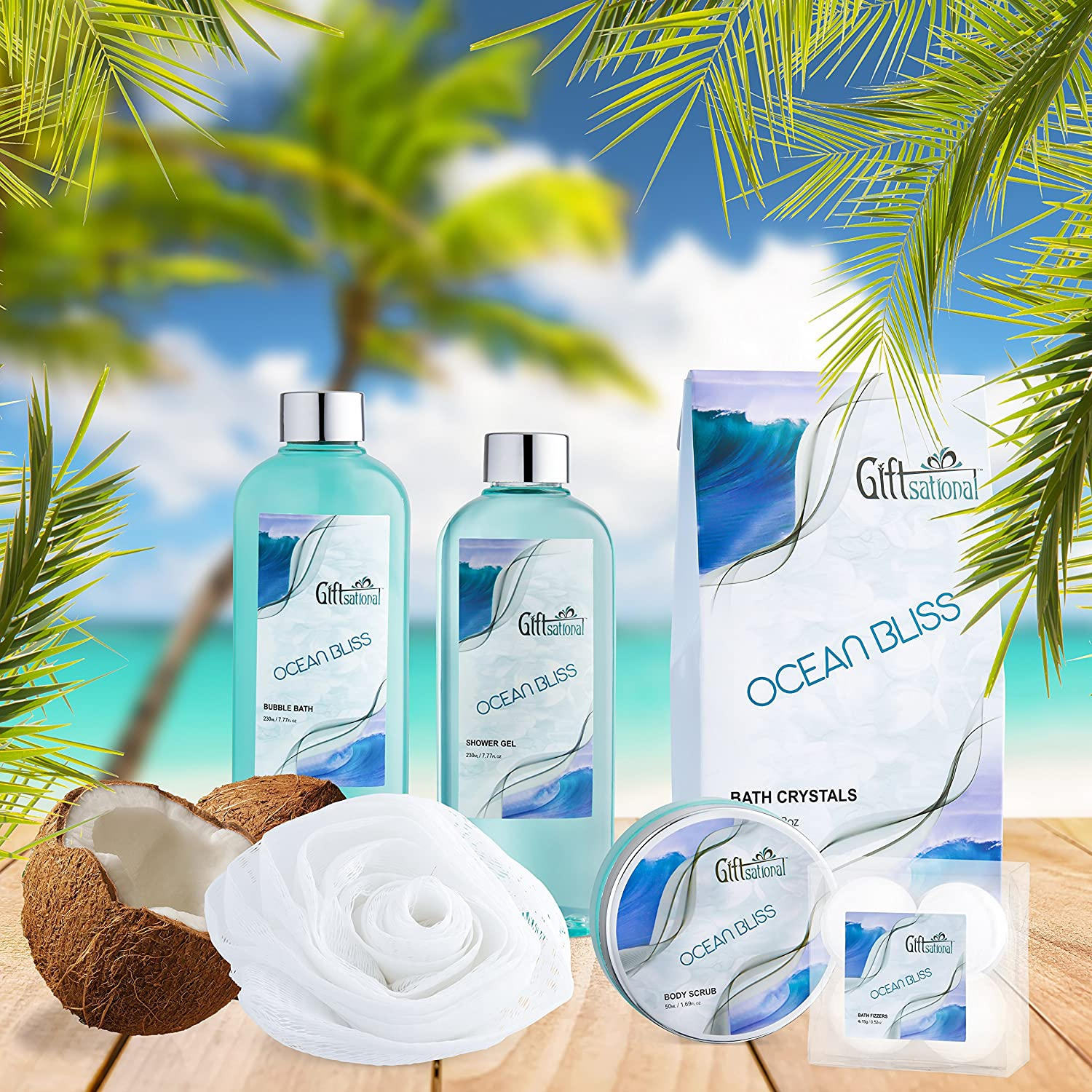 Amazoncom Spa Gift Basket With Refreshing Ocean Bliss Fragrance