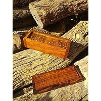 Domino de palo fierro | Artesanal | Jumbo | Juego de mesa | Liso