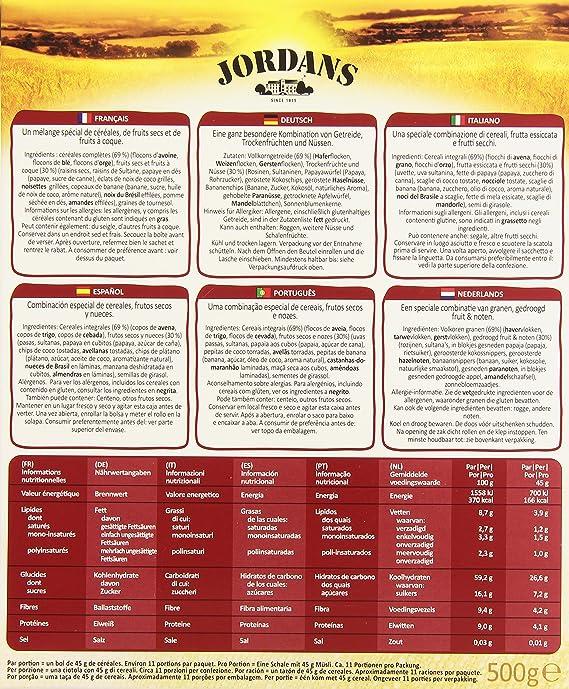 Jordans Special Muesli Cereales Integrales - 500 gr: Amazon.es: Amazon Pantry