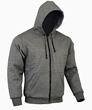 AUSTRALIAN BIKERS GEAR Motorcycle Hoodie LINED WITH DuPont™ KEVLAR® CE ARMOUR