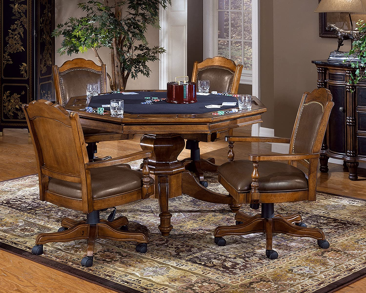 Hillsdale Dining Table Amazoncom Hillsdale Furniture 6060gtb Nassau Game Table In Brown