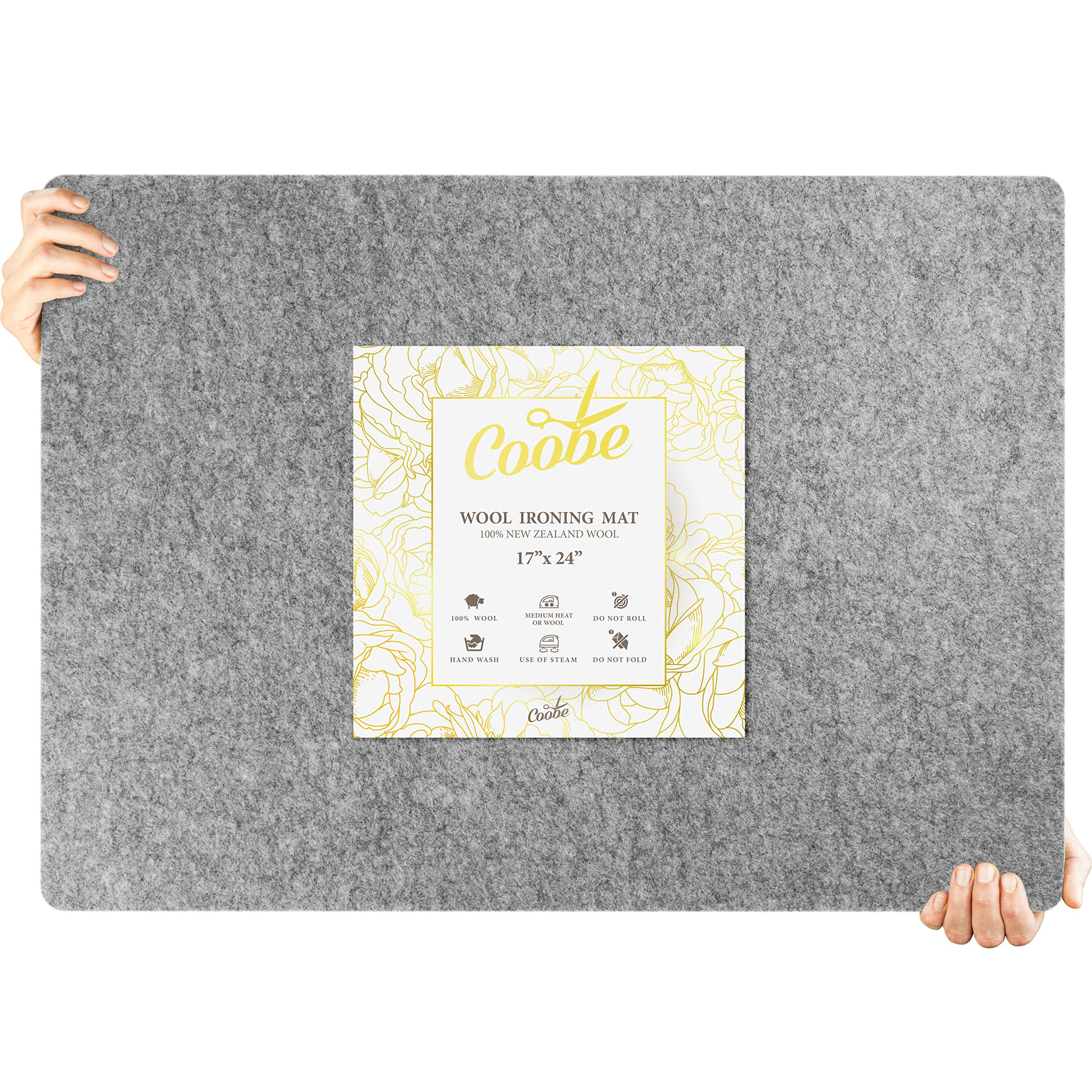 17'' X 24'' Wool Pressing Mat for Quilting Large Size - 100% New Zealand Wool Ironing Pad, Perfect for All Ironing Station