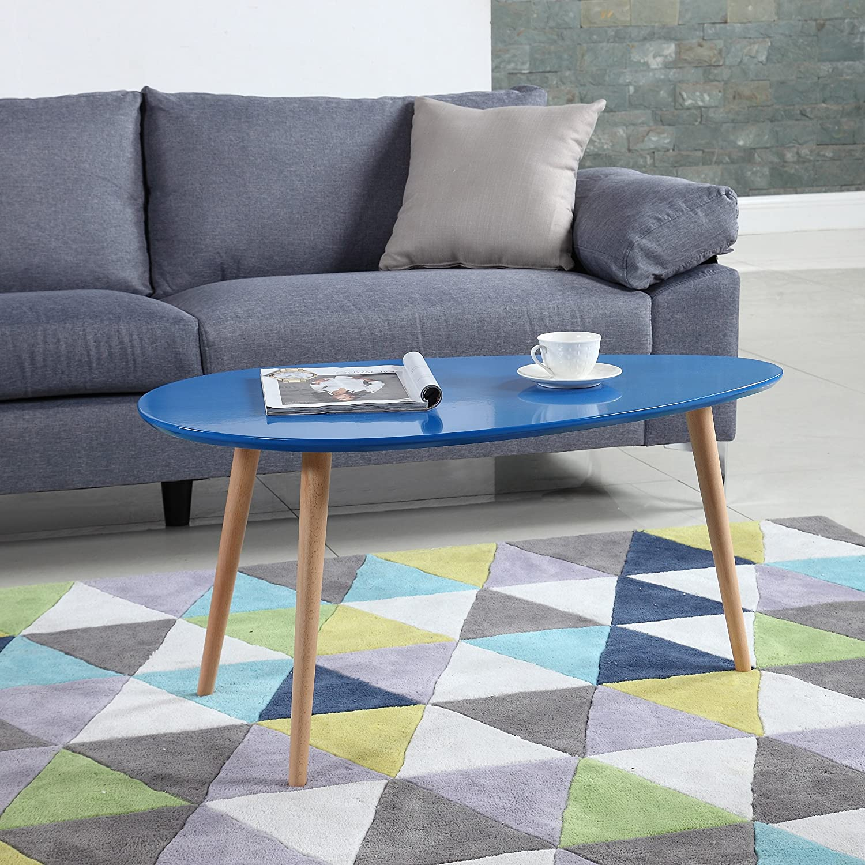Amazon Mid Century Modern Colorful Coffee Table Sky Blue