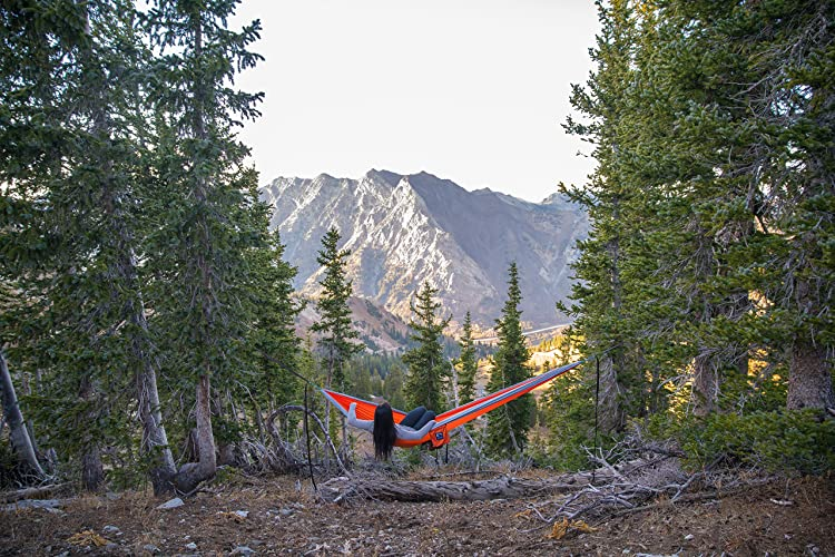 Outpost Double/Single Camping Hammock With 11' Tree Straps - Easiest Hammock To Hang