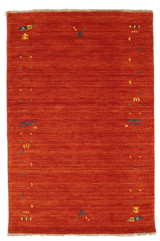 CarpetVista Gabbeh Loom - Rost Rot Teppich 100x160 Orientalischer Teppich