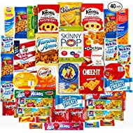 Ultimate Sampler Care Package (40 Count) - Assortments of Snacks, Chips, Cookies, Bars, Candies, Nuts for College Students, Christmas, Holidays, Office, Military, Meetings, Travel & Final Exams