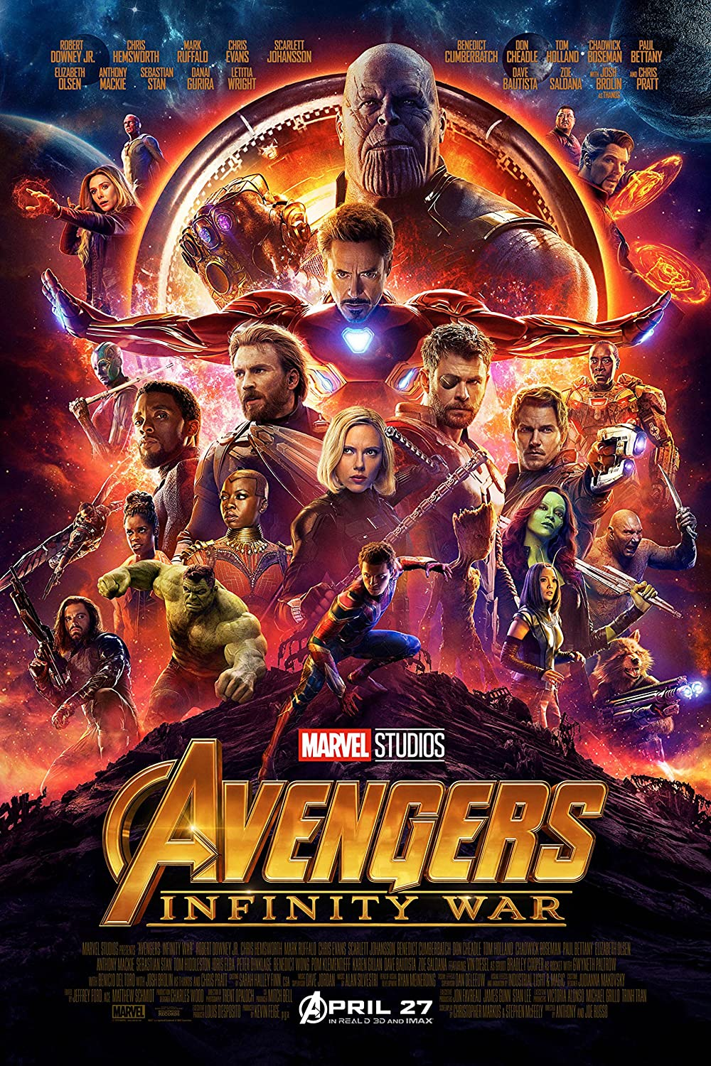 Amazon.com: The Avengers: Infinity War Movie POSTER (2018) Sci-fi ...