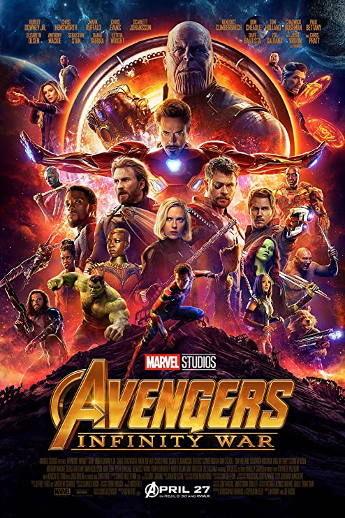 Art Avengers Infinity War Movie Poster