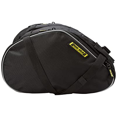 Nelson-Rigg RG-020 Black Dual Sport Motorcycle Saddlebag: Automotive