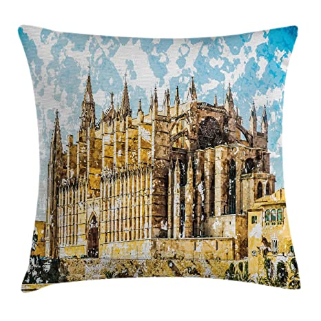 Amazon.com: Ambesonne Gothic Throw Pillow Cushion Cover, Big ...