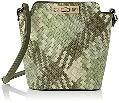 Womens Charlotte Croc Patent Leather Shoulder Bag Tan Cross-Body Bag Swankyswans DwzPGkkmt
