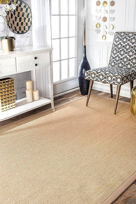 nuloom beige machine woven orsay sisal rug area rug