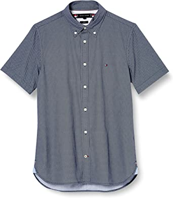 Tommy Hilfiger Slim Essential Print Shirt S/s Camisa, Blue, XX-Large para Hombre: Amazon.es: Ropa y accesorios