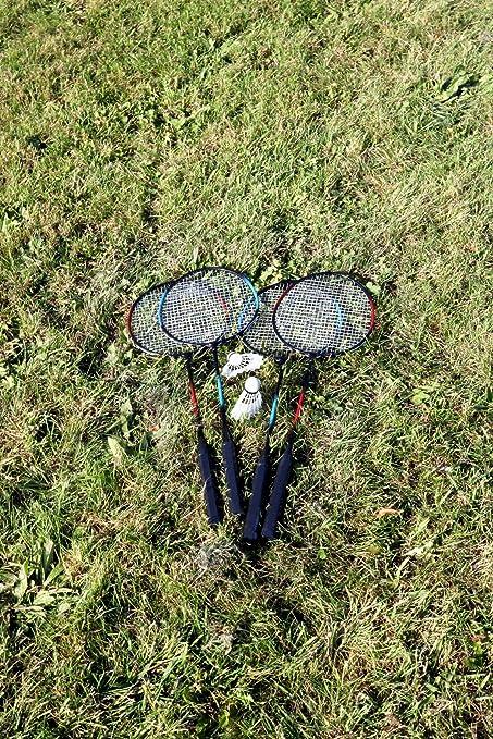 Oypla 4 Jugador del bádminton del jardín w/Raqueta, Red, Volantes y Bolsa de Transporte: Amazon.es: Deportes y aire libre