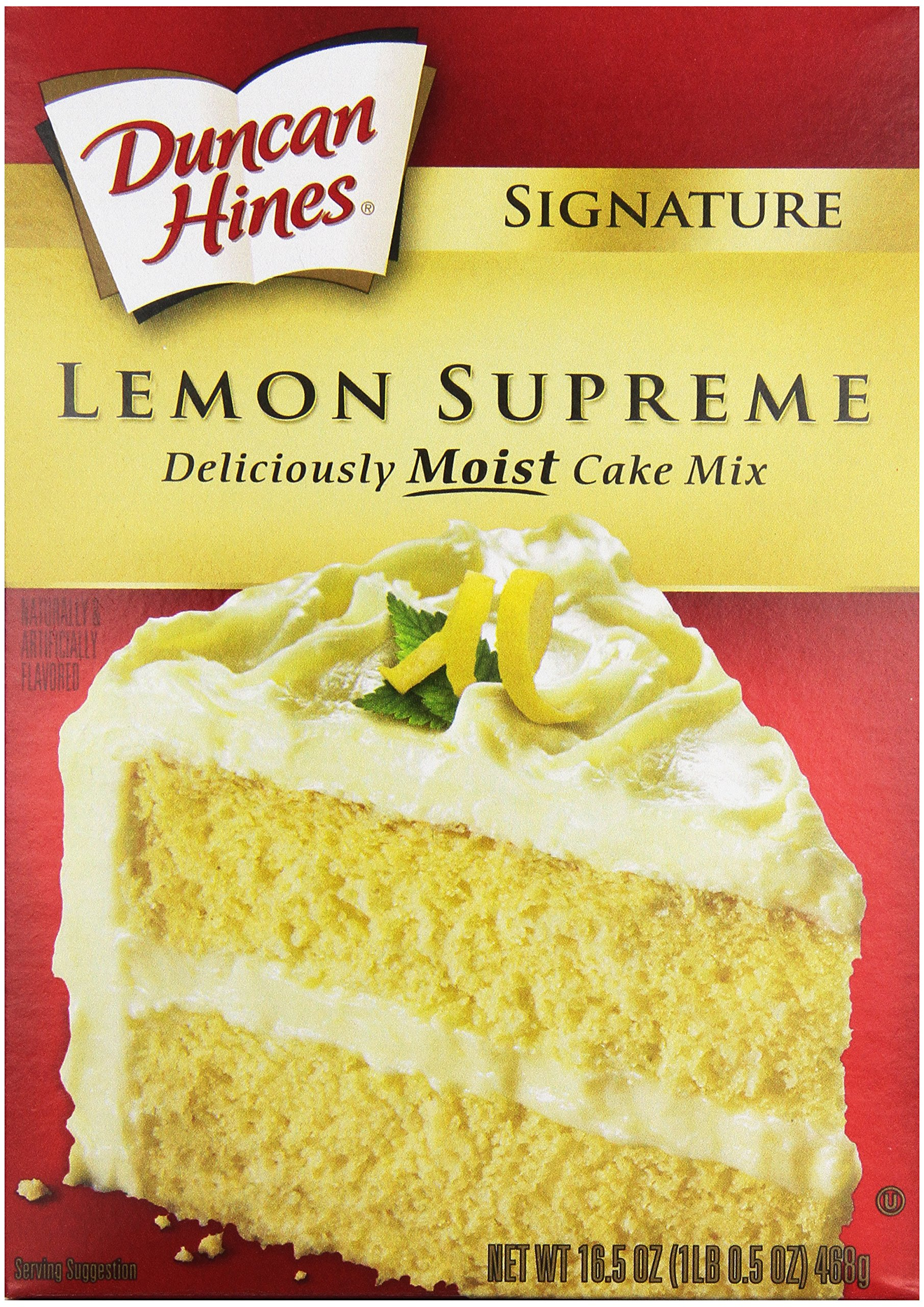 Duncan Hines Signature Cake Mix, Lemon Supreme, 16.5 oz