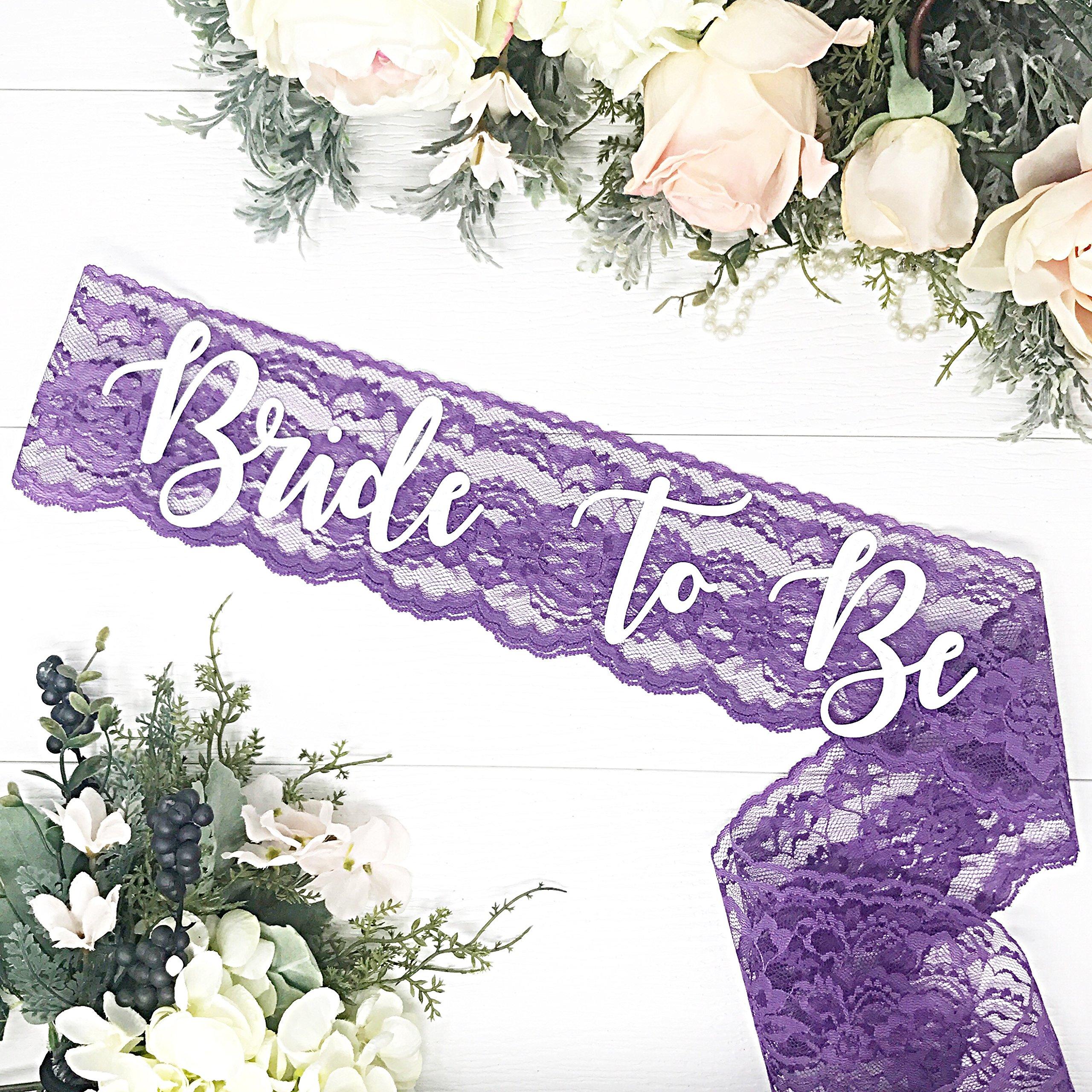 Lace Bachelorette Sash - Purple Lace by Lauren Lash Designs