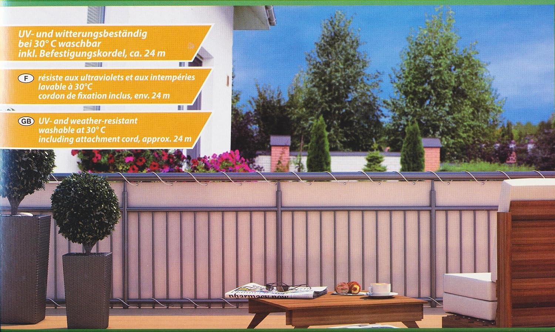 Home & Garden - Telo paravista per balcone da 600 x 90 cm, colore ...