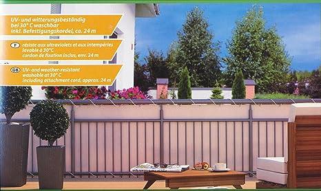 Nice Home U0026 Garden   Telo Paravista Per Balcone Da 600 X 90 Cm, Colore: