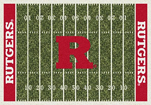 Milliken Rutgers College Home Field Area Rug, 10 9 x 13 2 , 01347 Home Field