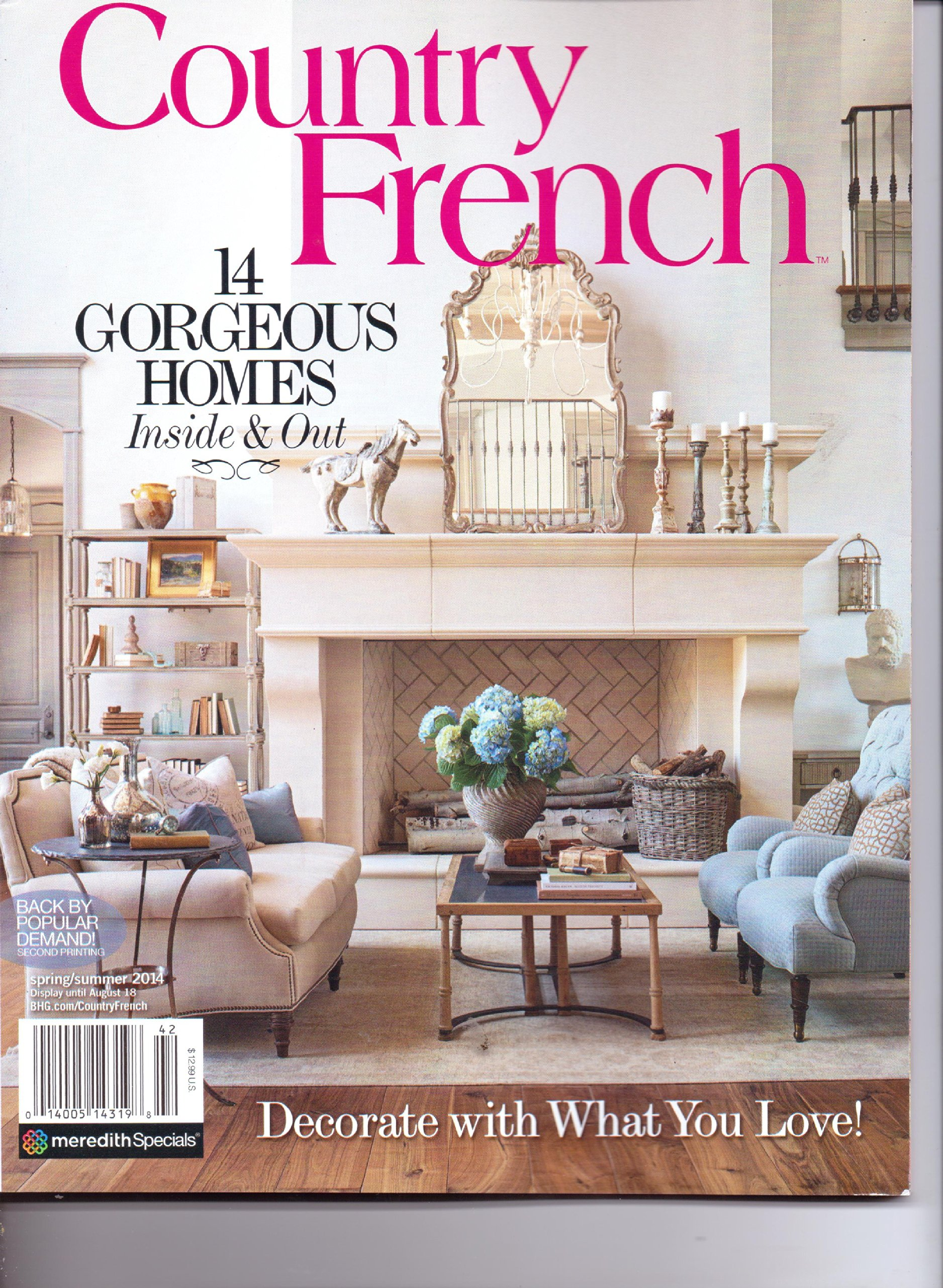 French Country Style Magazine Part - 17: COUNTRY FRENCH Magazine - 14 Gorgeous Homes Inside U0026 Out. Spring/Summer  2014.: Amazon.com: Books