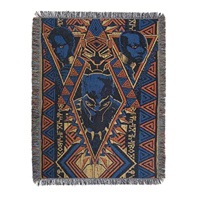 """Marvel Black Panther, """"King Panther"""" Woven Tapestry Throw Blanket, 48"""" x 60"""", Multi Color: Home & Kitchen"""