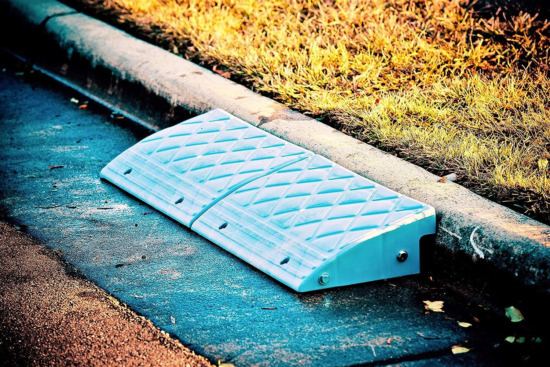 "B000H0P9NQ MAXSA 20031 (23\"" Wide) Curb Ramp for Driveways, Sidewalks, Steps, Wheelchairs, Strollers, Dollies and Vehicles, Grey 51zrGPnw5gL"