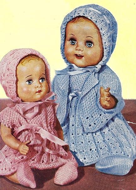 Amazon Vintage Knitting Pattern To Make 10 12 Inch Baby Doll