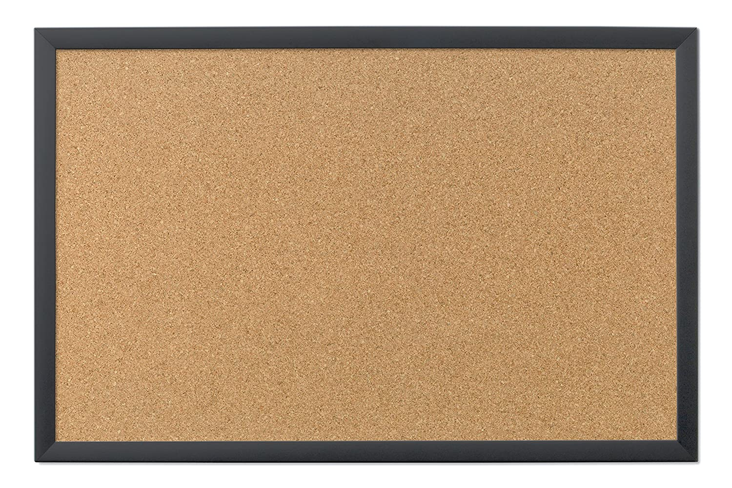 Amazon.com : U Brands Cork Bulletin Board, 35 x 23 Inches, Black Frame :  Office Products