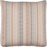 "Stone & Beam Transitional Geometric Weave Pillow, Soft and Versatile, 19"", Blush"