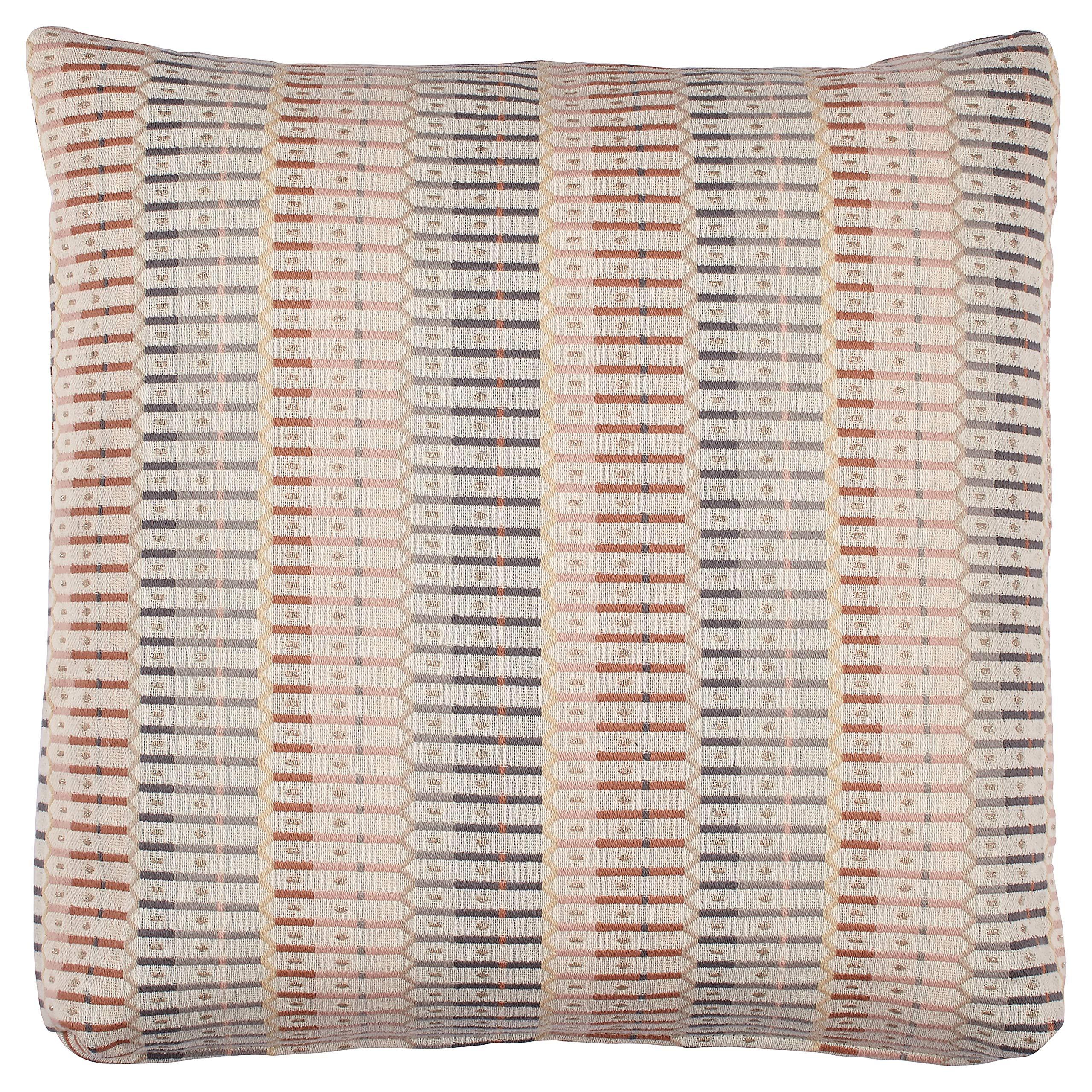 Stone & Beam Transitional Geometric Weave Pillow, 19'', Blush by Stone & Beam
