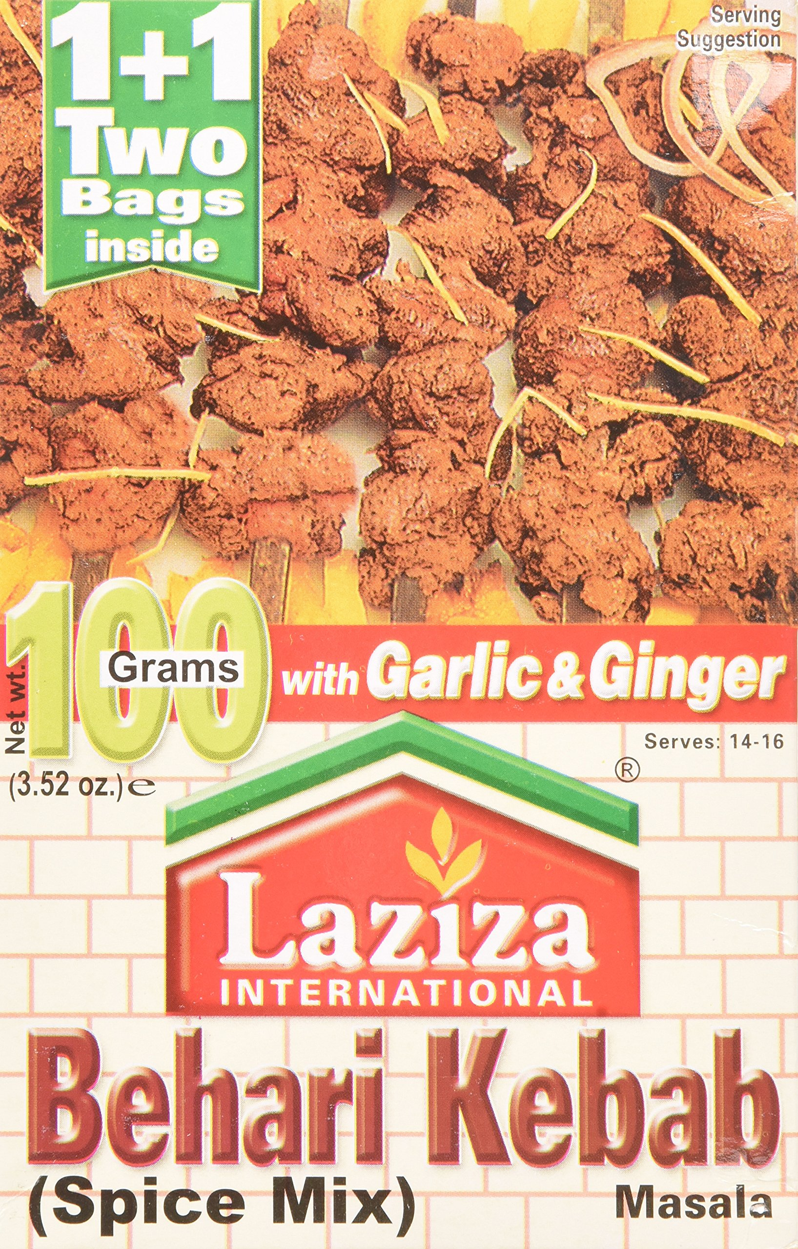 Laziza Bihari Kabab Masala, 100-Gram Boxes (Pack of 6)