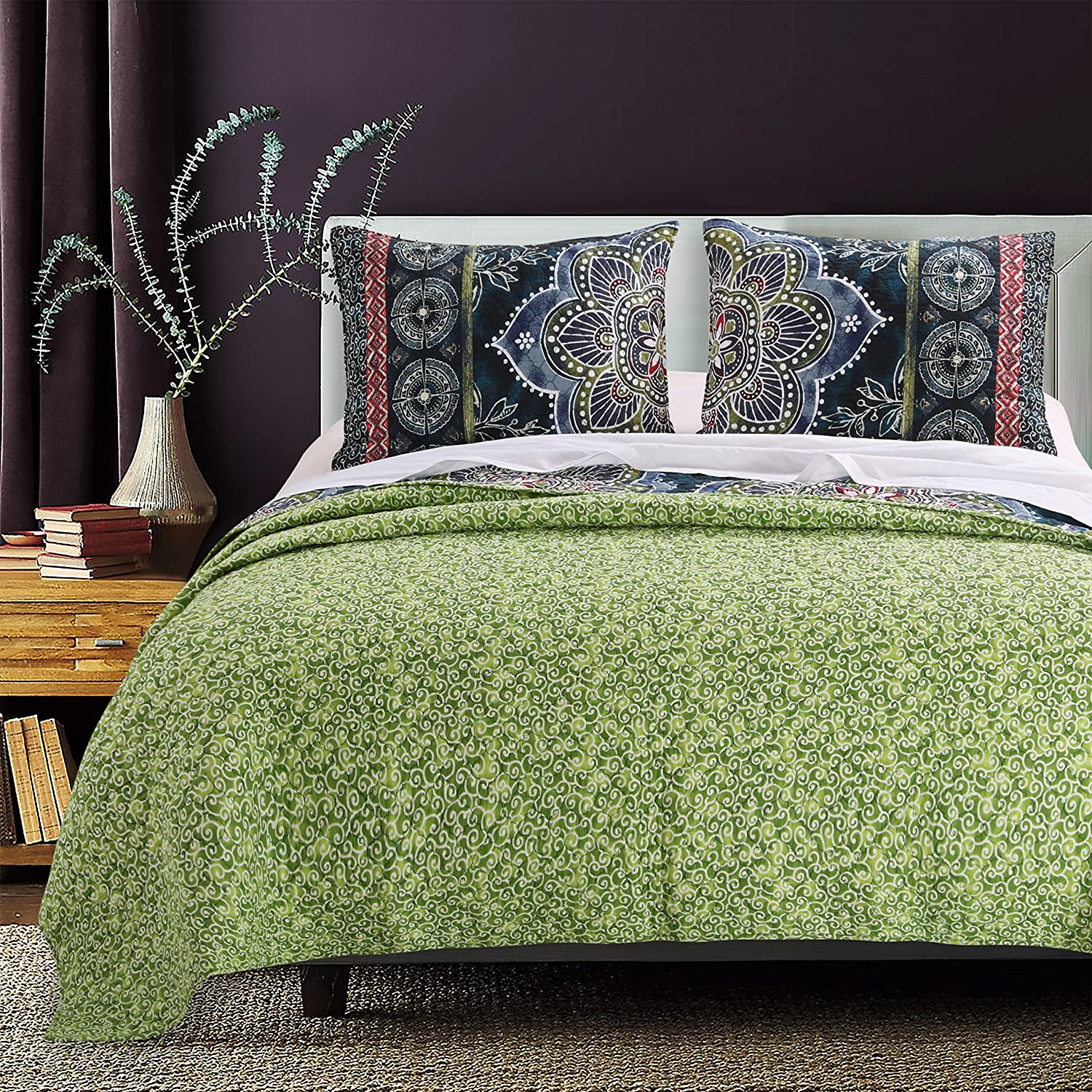 Kess InHouse Patternmuse Love Tangle Brown Green Watercolor 51 x 60 Wall Tapestry