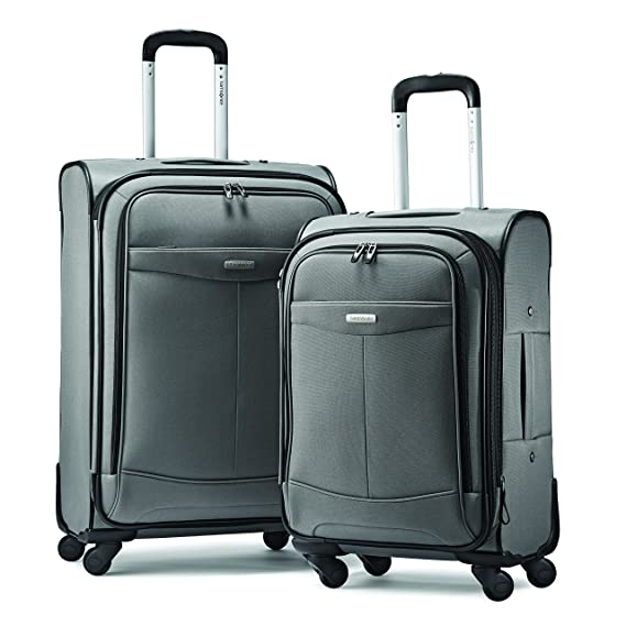 "Samsonite Proceed Two-Piece Softside Spinner Set (21""/25""), Charcoal"