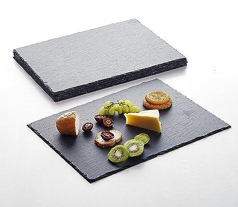 Schiefer Buffet-Platte Servierplatte Schieferplatte Käseplatte 30cm Griff