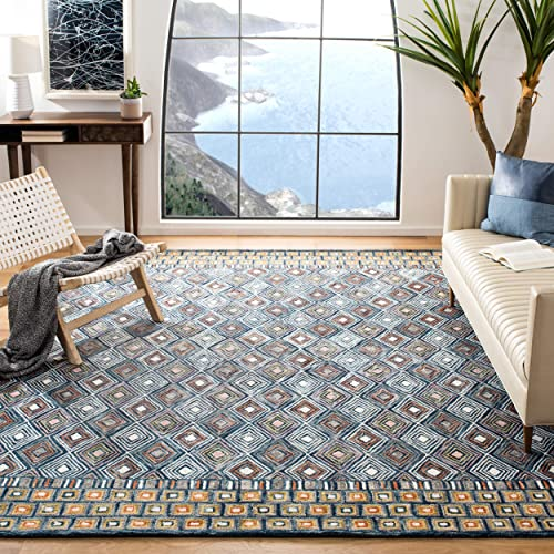 Safavieh Aspen Collection APN810M Blue and Gold 8' x 10' Area Rug,