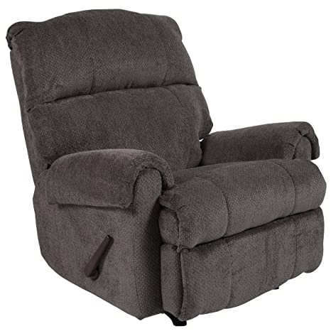 0a0bab5aa61 Flash Furniture Contemporary Kelly Gray Super Soft Microfiber Rocker  Recliner