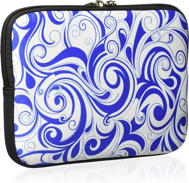Amzer 7.75-Inch Designer Neoprene Sleeve Case Cover Pouch for Tablet eBook and Netbook Blue Elegance AMZ5071077