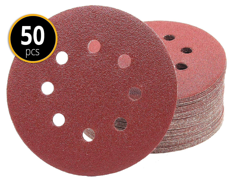 Haft-Schleifscheiben für Exzenterschleifer 240 Stück Klett-Schleifpapier Ø125 mm