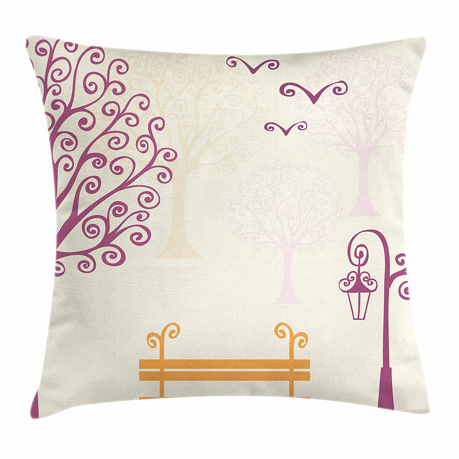 Amazoncom Ambesonne Nature Throw Pillow Cushion Cover Pastel