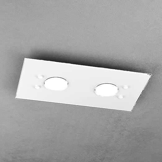Lámpara de techo moderna LED GX53 L 40 cm blanco: Amazon.es ...