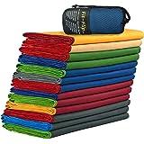 Fit-Flip Microfaser Handtücher mit Tasche | Mikrofaser Reisehandtuch, Microfaser Strandtuch XXL, Microfaser Badetuch 200x100, Sporthandtuch – Schnelltrocknend & saugstark