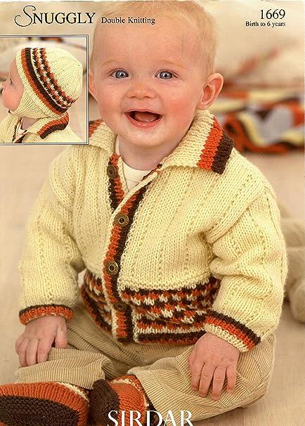 Amazon Sirdar Snuggly Dk Knitting Pattern 1669 Jacket