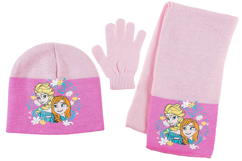 gibra - Set de bufanda, gorro y guantes - para niña Rosa Talla única