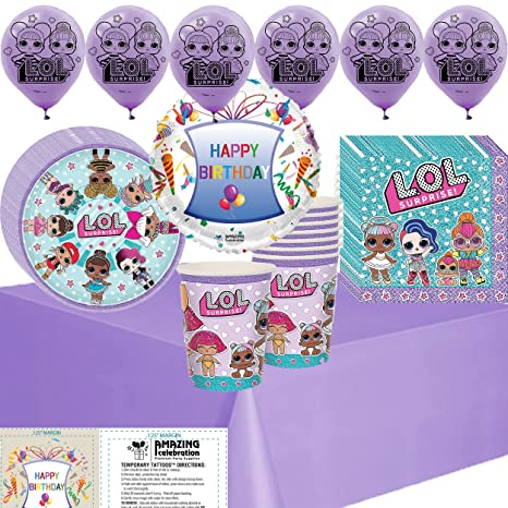 Amazon Lol Party Supplies Birthday Decoration Pack