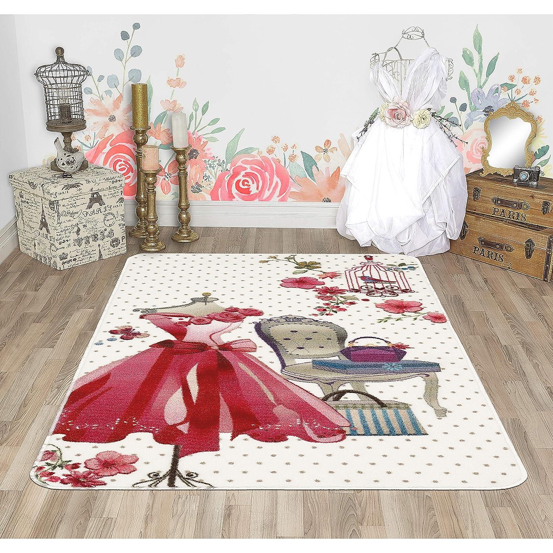 Evolur Home Pink Dress Vanity Nursery Bedroom/Livingroom ...